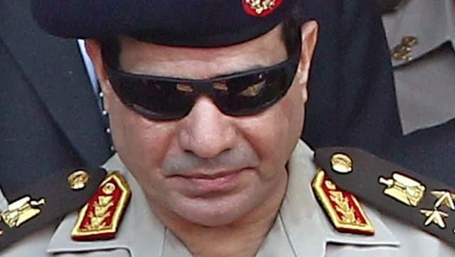 Porträt Militärchef General Abdel Fattah al-Sisi