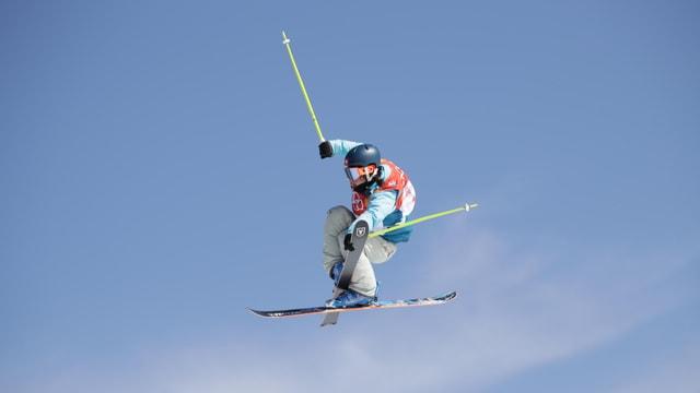 Sarah Höfflin in der Luft