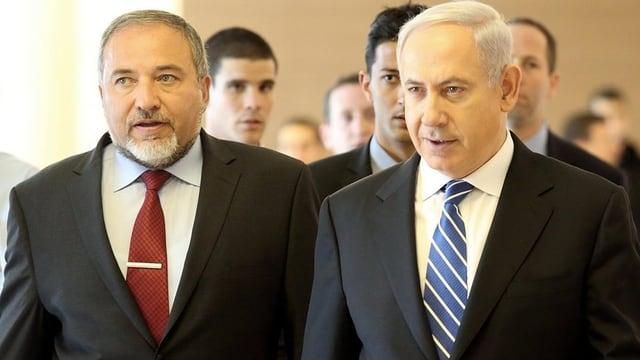 Avigdor Lieberman (links) und Benjamin Netanjahu (rechts)
