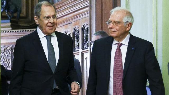 Sergej Lawrow und Josep Borrell.
