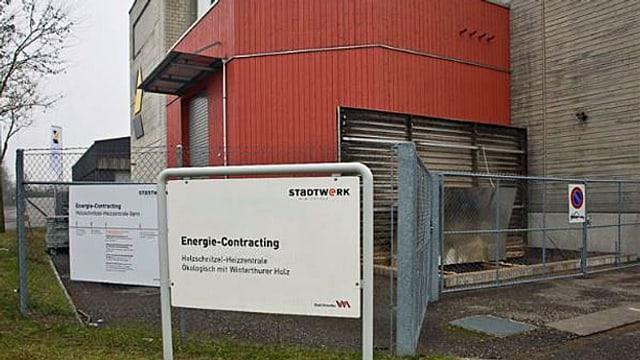 Eine Holzschnitzel-Heizanlage; ein Energie-Contracting-Projekt der Stadt Winterthur