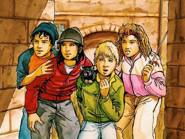 Die Kat-Kids beobachten etwas
