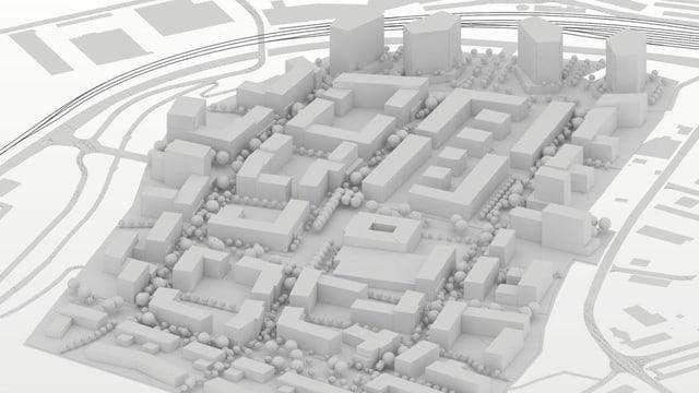 Modell Stadtquartier