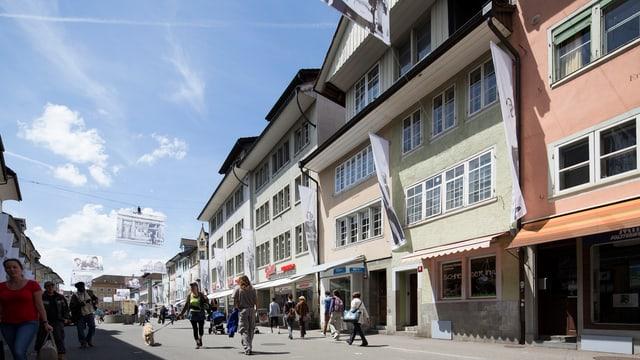 Altstadt von Winterthur in der Fussgängerzone