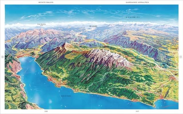 Eine Karte vom Gardasee.