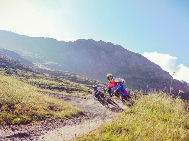 Biker in Lenzerheide