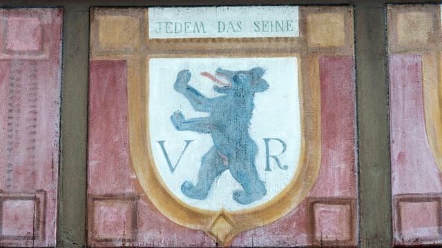 Fensterladen mit dem Wappen von Appenzell Ausserrhoden.