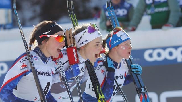 Las victuras dal sprint en Val Müstair.