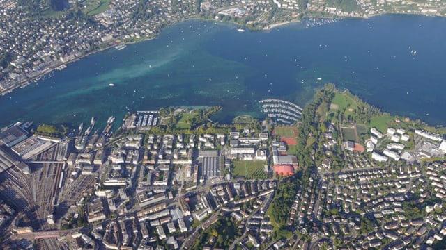 Luftbild der Stadt Luzern.