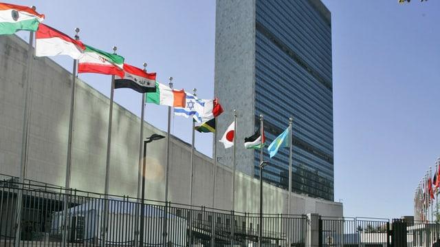 La sedia da l'ONU a New York.