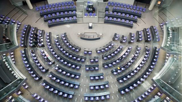 Parlamentssaal in Berlin.