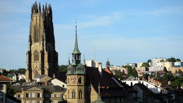 Blick auf die Stadt Freiburg.