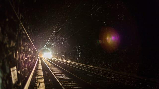 Aufnahme im Lötschbergtunnel