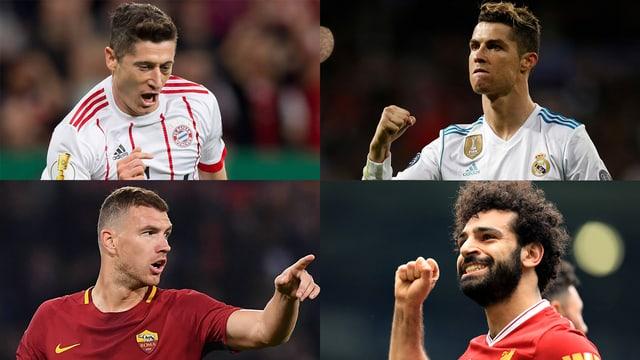 Robert Lewandowski, Cristiano Ronaldo, Edin Dzeko oder Mohamed Salah.