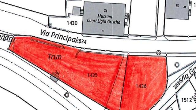 parcadis vis-à-vis museum Cuort Ligia Grischa (parcella 1435 e 1436)