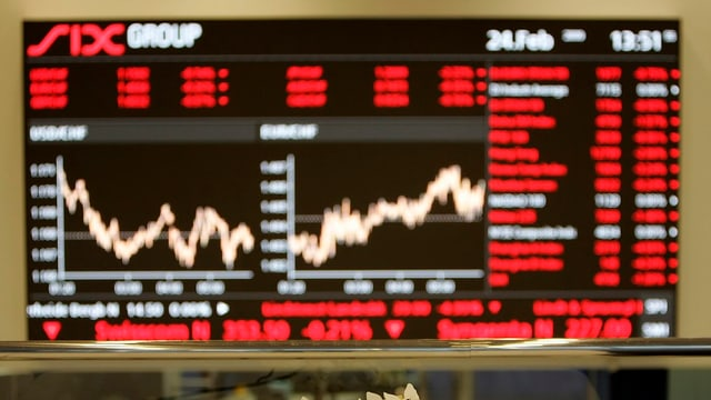 Kurse an der Anzeigetafel der Zürcher Börse
