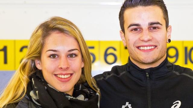 Giulia Steingruber und Pablo Brägger in einer Nahaufnahme