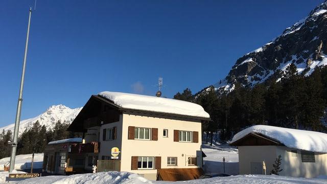 Gasthaus Buffalora mit dem Meteomast.
