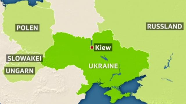 Karte der Ukraine mit den Nachbarstaaten.