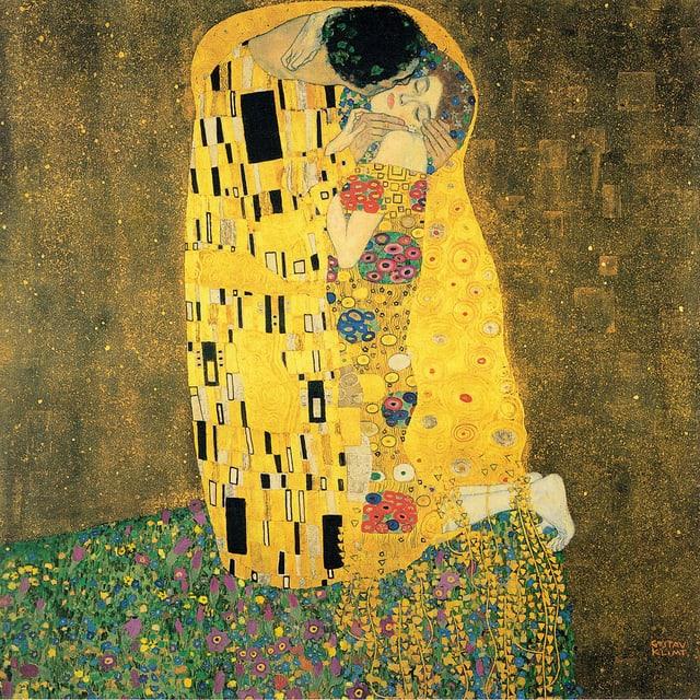 «Der Kuss» Gemälde Gustav Klimt
