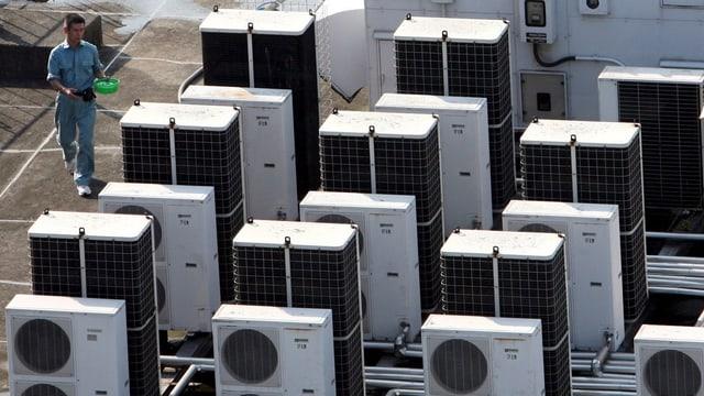Airconditioner – frisch aus der Fabrik