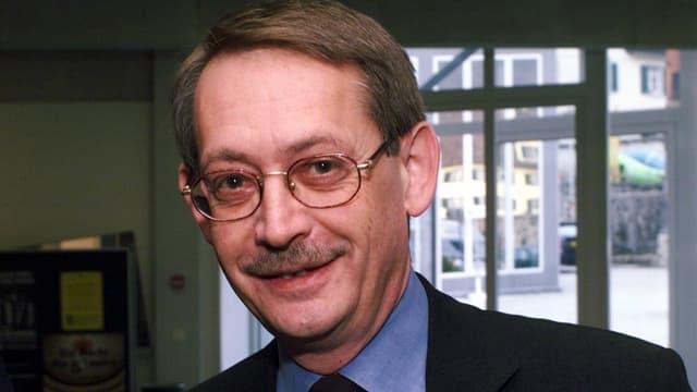 Der ehemalige Schwyzer Regierungsrat Franz Marty mit Brille.