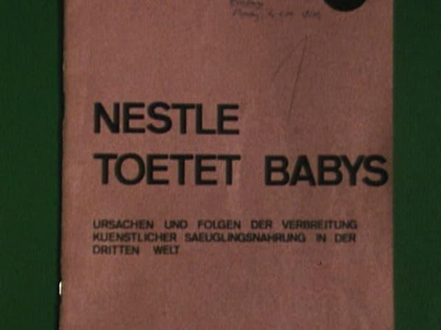 """Bild der Studie """"Nestlé tötet Babys"""""""