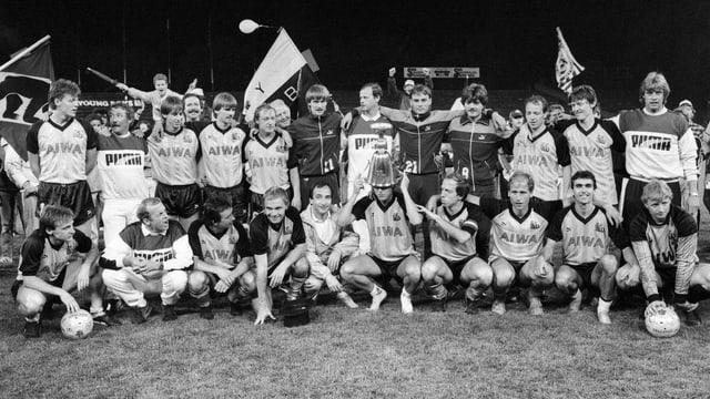 Die letzte YB-Meistermannschaft von 1986.