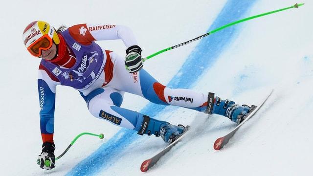 Nadja Kamer war die beste Schweizerin im Abschlusstraining.