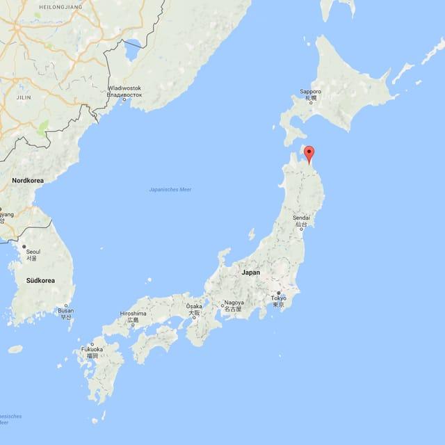 Ina carta che mussa la regiun Tohoku en il nordost dal Giapun.