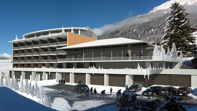 "Segunda fotomontascha da ""Il hotel Savognin""."