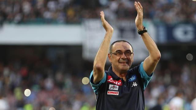 Trenader Maurizio Sarri, qua anc per EEC Napoli.