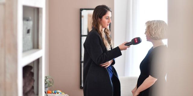 Sara Cantieni durant l' intervista.