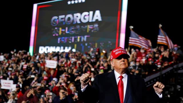 Trump an einer Rally