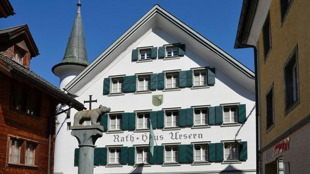 Ansicht des Rathauses Ursern in Andermatt, wo das Landgericht tagt.