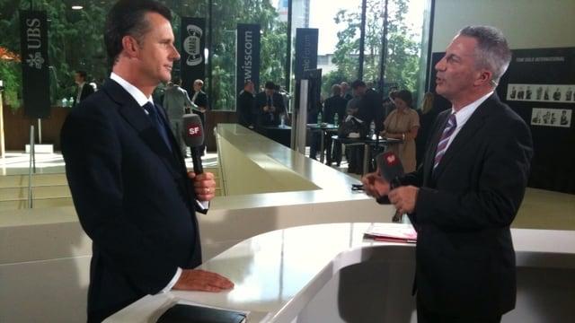 Reto Lipp im Gespräch mit Philipp Hildebrand.