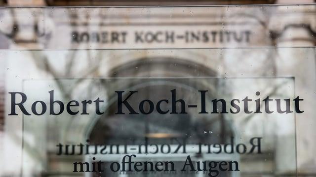 Eingang ins Robert-Koch-Institut.
