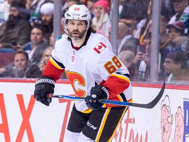 Jaromir Jagr im Dress der Calgary Flames