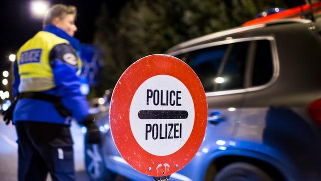Polizeikontrolle im Kanton Genf (Archivbild).