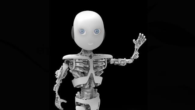 Grafik: So soll der humaniode Roboter Roboy einmal aussehen.