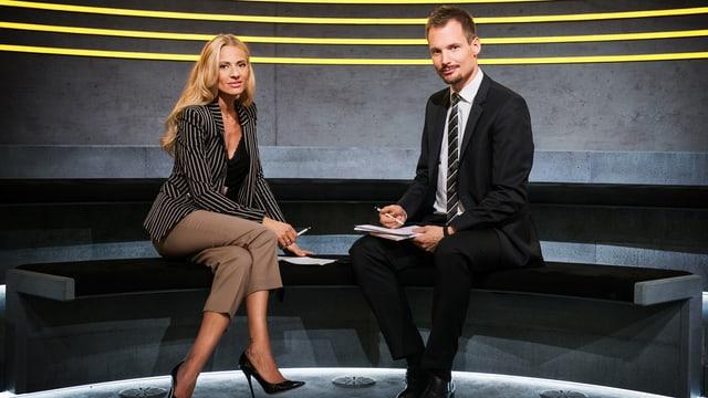 Christa Rigozzi und Jonas Projer