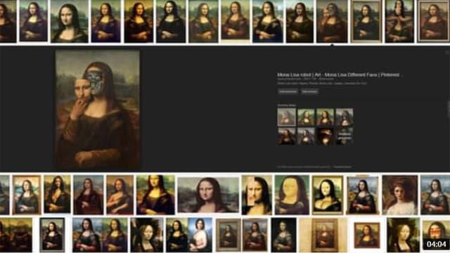 Mona Lisa in verschiedenen Ausführungen