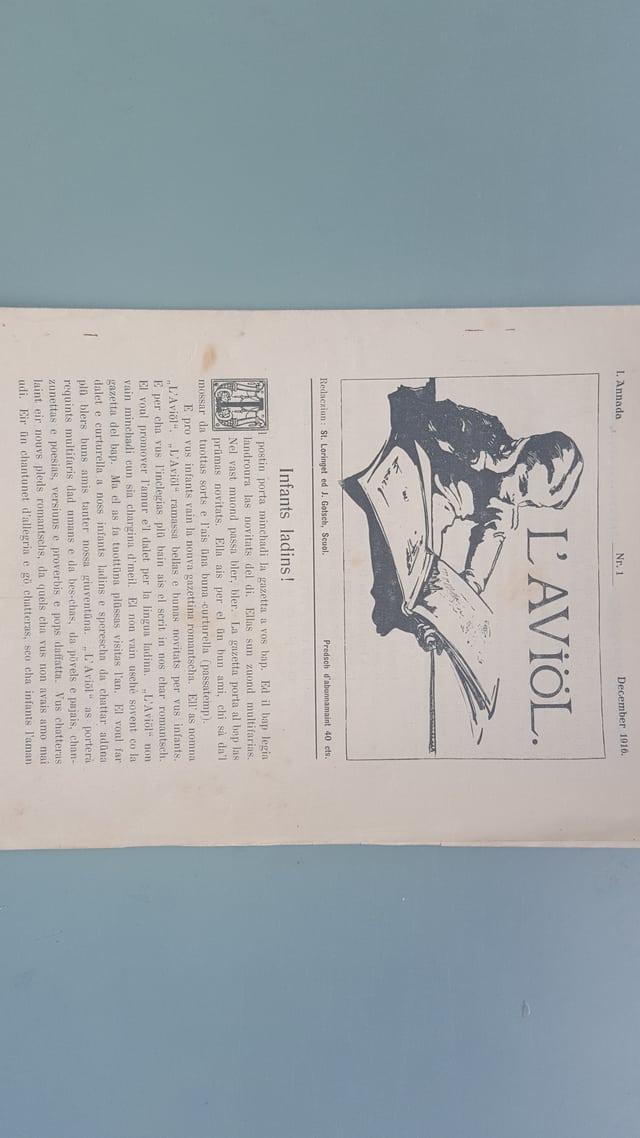 La emprima ediziun da december 1916 – 1 pagina