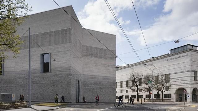 Hauptgebäude und Anbau des Kunstmuseums Basel von aussen