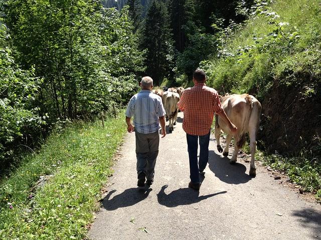 Peter Conrad zusammen mit dem Alpinspektor.