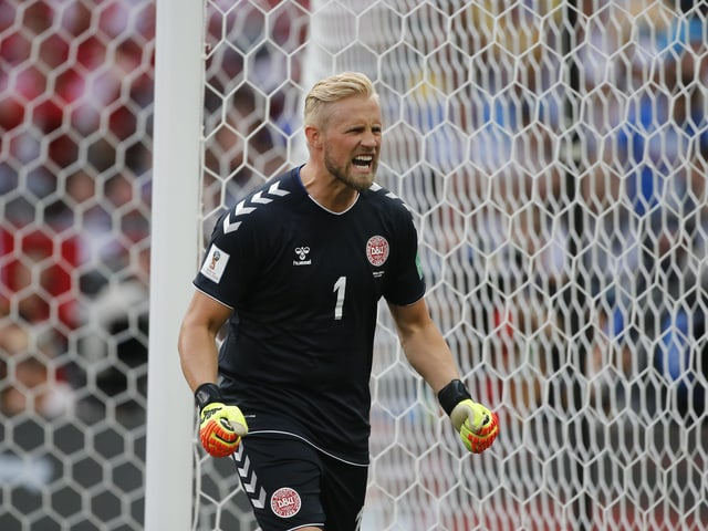 Dänemarks Keeper Kasper Schmeichel.