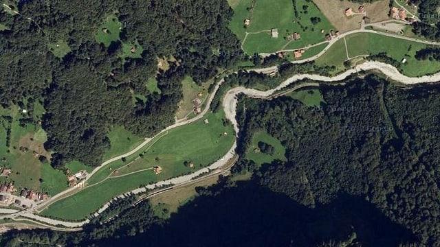 Karte des Buechiwald.