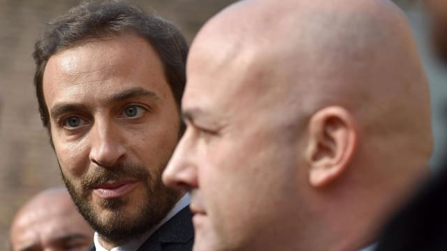 Gianluigi Nuzzi (rechs) und Emiliano Fittipaldi