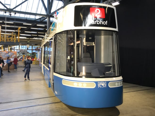 1:1 Modell des neuen «Flexity»-Trams