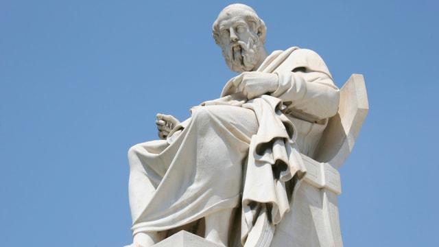 Statue von Platon